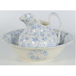 """View 2: Mintons England """"Alabama"""" Wash Basin and Pitcher"""