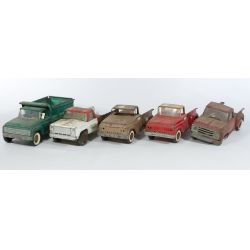 View 2: (5) Early Tonka and Structo Metal trucks