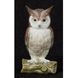 "View 2: Lladro ""Horned Owl"" #5420 Glazed Retired"
