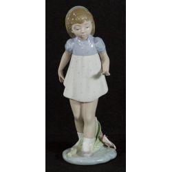 "View 2: Lladro ""Girl Walking"" #5040 Glazed Retired"