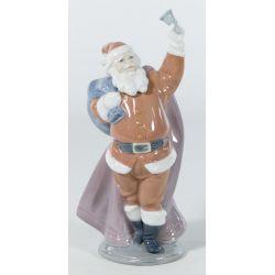 "View 2: Lladro ""Jolly Santa"" #6500 Glazed Retired"