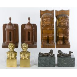 View 2: Collection of Book Ends (4 pair)