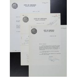 View 2: (3) Richard J. Daley, Chicago Mayor, Signed Letters - 1957-1965