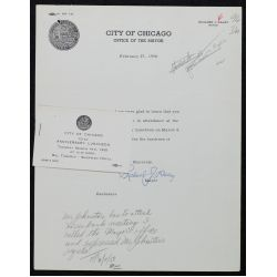 View 8: (3) Richard J. Daley, Chicago Mayor, Signed Letters - 1957-1965