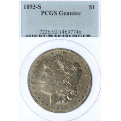 1893-S $1 PCGS Genuine