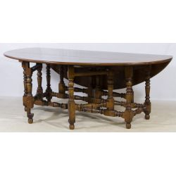 View 3: Oak Gate Leg Drop Leaf Table and Chairs