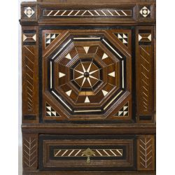 View 3: Flemish Oak Cabinet with Bone Inlay