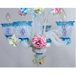 View 5: Murano Style Art Glass Chandelier