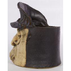 View 2: Ceramic Figural Planter by Black