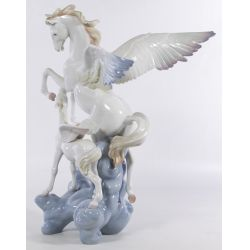 "View 2: Lladro #1778 ""Pegasus"" Glazed Figurine"