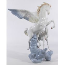 "View 3: Lladro #1778 ""Pegasus"" Glazed Figurine"
