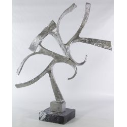 View 2: Abstract Metal Sculpture