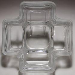 View 2: Daum Crystal France Cross-shaped Bowl