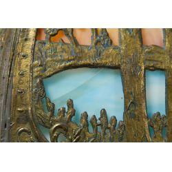 View 4: Art Nouveau Slag Glass Lamp