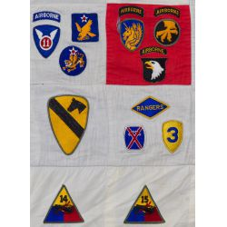 View 3: World War II Military Patch Quilt