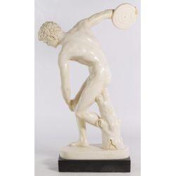 "View 2: Unknown Artist (20th Century) ""Discobolo"" Plaster Statue"