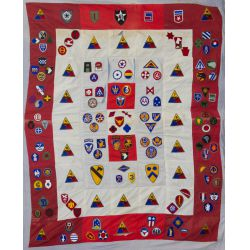 View 2: World War II Military Patch Quilt