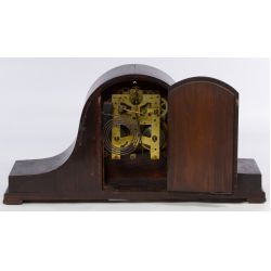 View 2: New Haven Clock Co. Tambour No.16 Humpback Mantel Clock