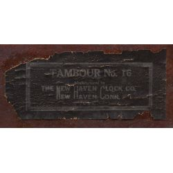 View 3: New Haven Clock Co. Tambour No.16 Humpback Mantel Clock