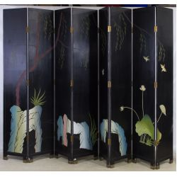 View 2: Asian Wood Painted Screen