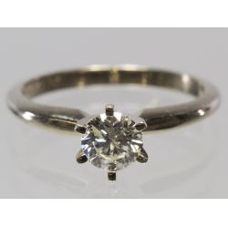 View 3: 14k White Gold and Diamond Ring