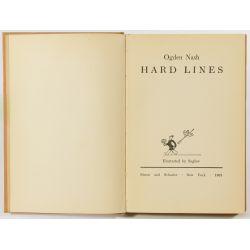 "View 3: Ogden Nash ""Hard Lines"" Autographed Book"