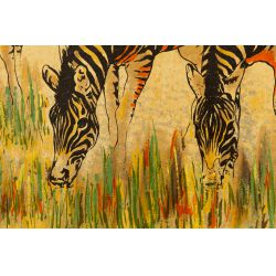 "View 2: Fadik (20th Century) ""Zebras"" Screen Print"