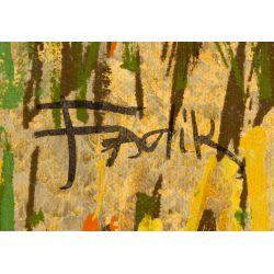 "View 3: Fadik (20th Century) ""Zebras"" Screen Print"