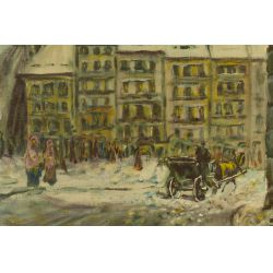 "View 2: Vasari (20th Century) ""Old Warsaw"" Oil on Board"