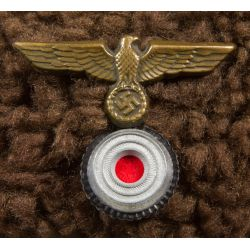 View 3: Shearling Aviator Style Hat with German Nazi Pin