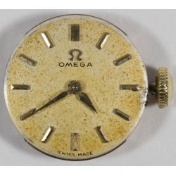 View 2: 18k Gold Cased Omega Wrist Watch
