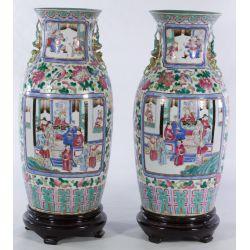 View 2: Famille Rose Asian Ceramic Vases