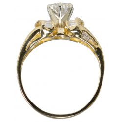 View 5: 14k Gold and Diamond Ring