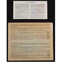 View 2: The French National Sweepstakes 1937 Full Ticket Book