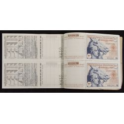 View 3: The French National Sweepstakes 1937 Full Ticket Book