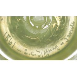 View 4: Louis Comfort Tiffany Blue Pastel Footed Bowl
