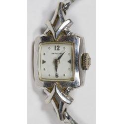 View 2: Biggs Hamilton 14k White Gold Cased Wrist Watch