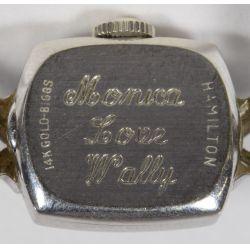 View 3: Biggs Hamilton 14k White Gold Cased Wrist Watch