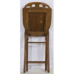 View 2: Walnut Folding Chair by The Phoenix Chair Company
