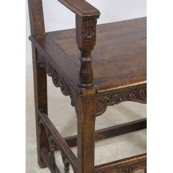 View 3: French Henri II Style Walnut Arm Chair