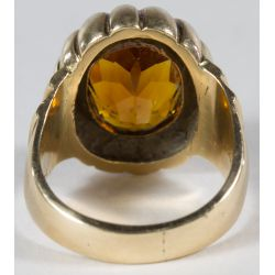 View 3: 14k Gold and Citrine Ring