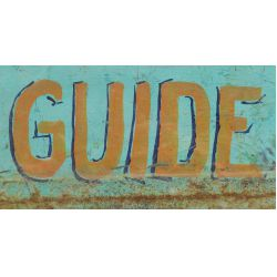 "View 3: Folk Art Tin Fish ""Guide"" Advertising Sign"
