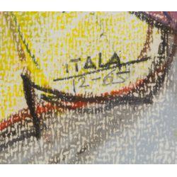"View 2: Itala Langmar (20th Century) ""Female Portrait"" Drawing"