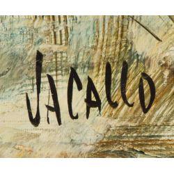 "View 3: Jacallo (20th Century) ""Architectural Landscape"" Oil on Canvas"