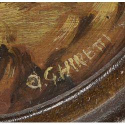 View 5: O. Ghretti (Italian, 20th Century) Oil on Copper
