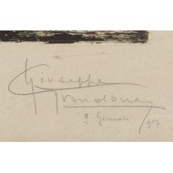 "View 2: Giuseppe Grondona (Italian, 20th Century) ""Accquafortisti Italiano"" Etching"