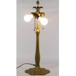 View 2: Williamson Brass Art Nouveau Lamp Base