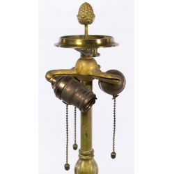 View 4: Williamson Brass Art Nouveau Lamp Base