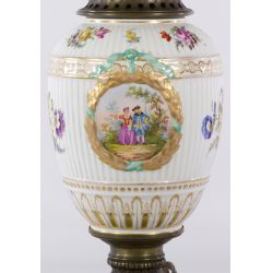 View 2: Hand Painted Porcelain Lamp