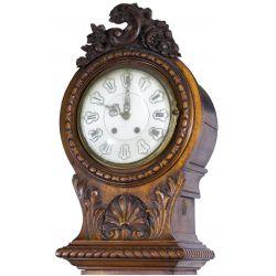 View 2: 19th Century Walnut Tall Case Clock